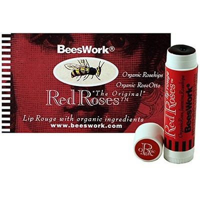 Red Roses Lip Rouge .15oz lip balm by Beeswork