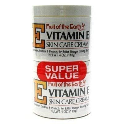 Fruit of the Earth Vitamin-E Cream 4 oz. + 4 oz. Jar (3-Pack) with Free Nail File