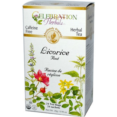Celebration Herbals Organic Licorice Root Tea Caffeine Free 24 Tea Bags