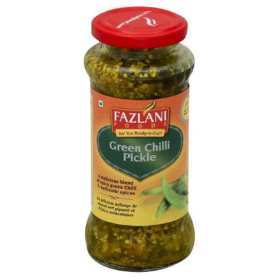 Fazlani 300 G. Spicy Green Chilli Pickle - Case Of 6