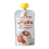 Happy Baby Organic Baby Food: Stage 2 / Homestyle Meals Pumpkin White Bean