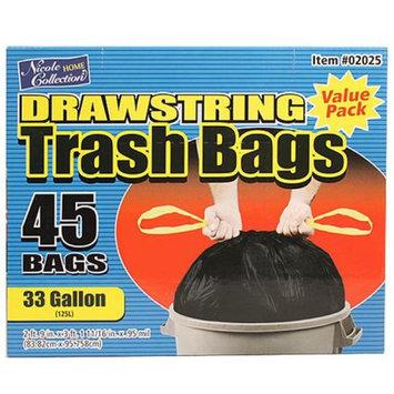 Nicole Home Collection 02025 33 Gallon DrawStorageing Trash Bags - 270 Per Case
