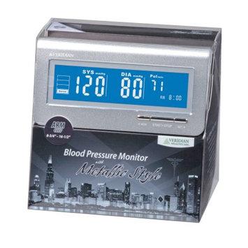 Veridian Healthcare Metallic Style Arm Blood Pressure Monitor, Silver, 1 ea