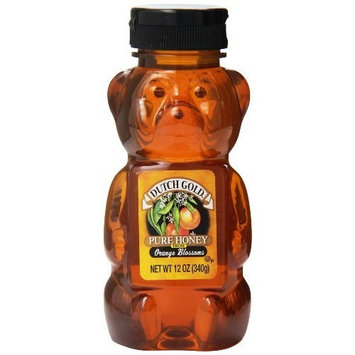Dutch Gold Honey Dutch Gold Pure Honey Orange Blossom, 12 Ounce Bear (Pack of 12)