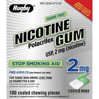 Rugby Laboratories NICOTINE GUM 2 MG MINT ***RUG Size: 40