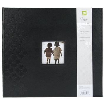 Making Memories Embossed Leather 3-Ring 12x12 Scrapbook Album w/Window - Black