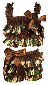 Stephan Baby Ruffled Flapper Top and Diaper Cover, Camo Print, 18-24 Months 760443