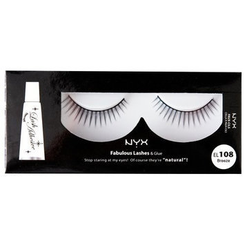 NYX Fabulous Eye Lashes, After Midnight, 0.544 Ounce