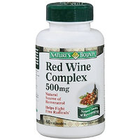 Nature's Bounty Resveratrol Red Wine Complex Dietary Supplement 500 mg Capsules