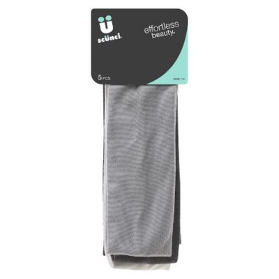 Scunci Flexible Construction Headbands - Grey, Black, White