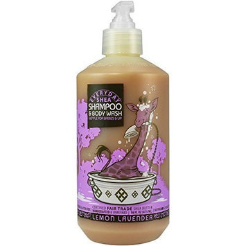 Alaffia Everyday Shea Shampoo & Body Wash for Babies and Up Lemon Lavender 16 oz