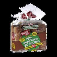 Healthy Life 100% Whole Wheat Hot Dog Buns - 8 CT