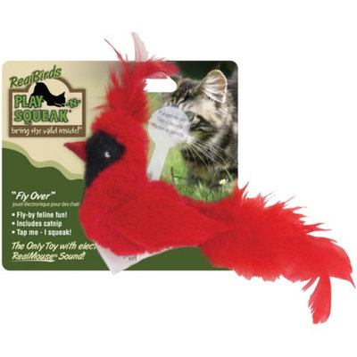 Our Pet's Play-N-Squeak Cardinal/Woodpecker Cat Toy