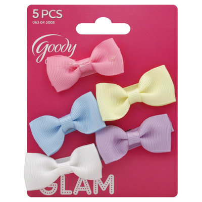 Goody Products Inc. Girls Bow Salon Clips, 5 pcs