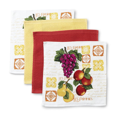 Franco Manufacturing Essential Home 4-Pack Fruit Kitchen Dishcloths