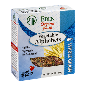 Eden Organic Pasta Vegetable Alphabets