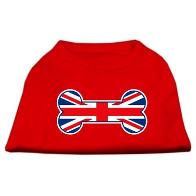 Mirage Pet Products 18-Inch Bone Shaped United Kingdom Union Jack Flag Screen Print Shirts for Pets, XX-Large, Red