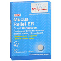 Walgreens Mucus Relief ER 600Mg Tablets