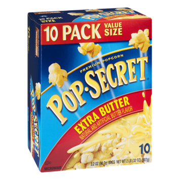 Pop-Secret Popcorn Extra Butter Microwave - 10 CT
