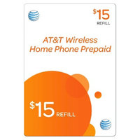 Pre-paid Cell Phone Card AT&T ST&T pre-paid home phone 15