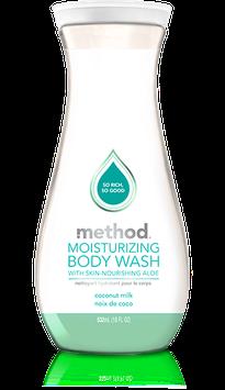 method coconut milk moisturizing body wash