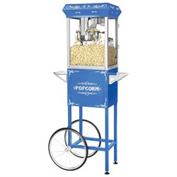 Great Northern Popcorn Four Ounce Foundation Popcorn Machine with Cart in Blue