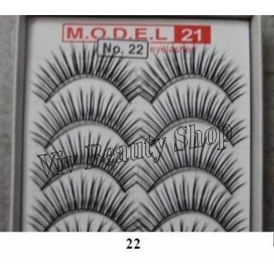 Model 21 False Eyelashes No. 22A, 10 Pairs