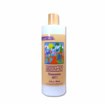 Arizona Sun Moisturizer SPF 3 - 16 oz -Natural Aloe Vera and Other Plants and Cacti from the Desert Provide Soothing Moisture for Dry Skin - Oil Free - Face and Body Lotion