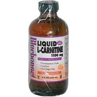 Bluebonnet Liquid L-Carnitine 1100 mg, Orange, 8 Fluid Ounce