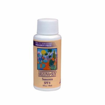 Arizona Sun Sunscreen SPF 8 - 1 oz - A Sun Protection Sun Screen Lotion - Oil Free - Face and Body Sunblock- Sun Block for Outdoors