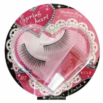 Koji Spring Heart False Eyelashes (No.7 Medium Long)