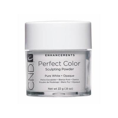 Creative Nail Perfect Color Powder False Nails, Pure White, 0.8 Ounce