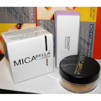 Bundle 3 Items: Mica Beauty (Micabella) Mineral Makeup 9gr Foundation Pick Your Color+micabella Moisture+ High Gloss Nail Buffer