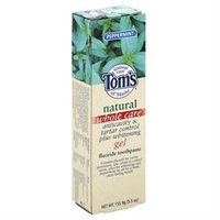 Toothpaste Anti-Cavity Whitening Fluoride Gel Peppermint, 5.5 oz, Tom's of Maine