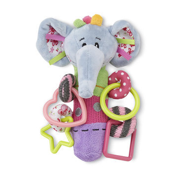 Nuby Squeeze n' Squeak Infant's Plush Toy & Teether Elephant - LUV N' CARE, LTD.