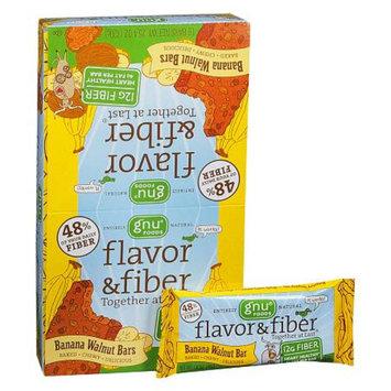 Gnu Foods Flavor & Fiber Bars 16 Pack Banana Walnut