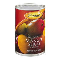 Roland All Natural Mango Slices in Light Syrup