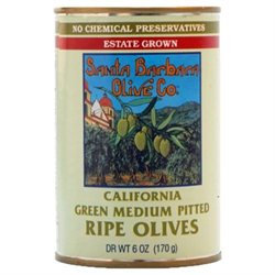 SANTA BARBARA OLIVES Cal Green Pitted Olives 6 OZ