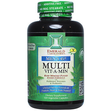Emerald Labs Men's 45 plus Multi Vit-A-Min - 120 Vegetable Capsules