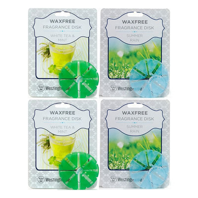 Westinghouse Summer Rain & White Tea 4-piece Fragrance Disk Refill Set