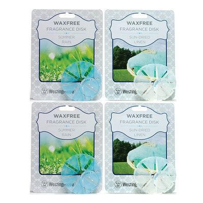 Westinghouse Summer Rain & Linen 4-piece Fragrance Disk Refill Set