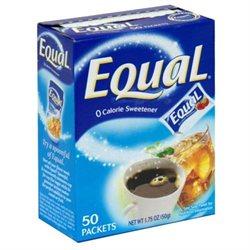Equal Sweetner with Nutrasweet, 50 ct