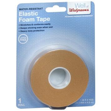 Walgreens Elastic Foam Tape, 1 Inch, 1 ea