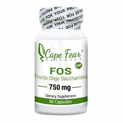 Cape Fear Naturals - FOS (Fructo Oligo Saccharides) - 60 Capsules, 750 mg each (2 Month Supply)
