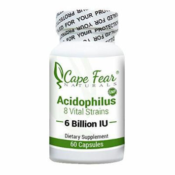 Cape Fear Naturals - Acidophilus - Natural Probiotic - Aids in Digestion - 8 strains/6 billion units, 60 capsules (2 Month Supply)