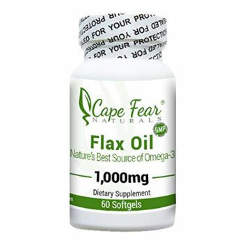 Cape Fear Naturals - Flax Oil - 60 softgels, 1000 mg each (2 Month Supply)