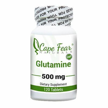 Cape Fear Naturals - Glutamine - 500 mg, 120 tablets (1 Month Supply)