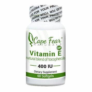Cape Fear Naturals - Vitamin E - 60 softgels, 400 IU each (2 Month Supply)