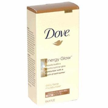 Dove Energy Glow Daily Face Moisturizer with Self-Tanner, Medium/Dark Skin, 1.7-Fluid Ounce (50 ml)