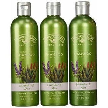 Nature's Gate Organics Shampoo, Lavender & Aloe, 12-Ounce Bottles (Pack of 3)